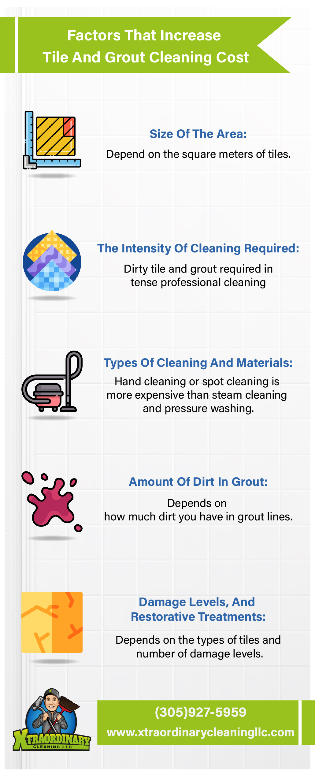Factors That Increase Tile And Grout Cleaning Cost [Infographic]