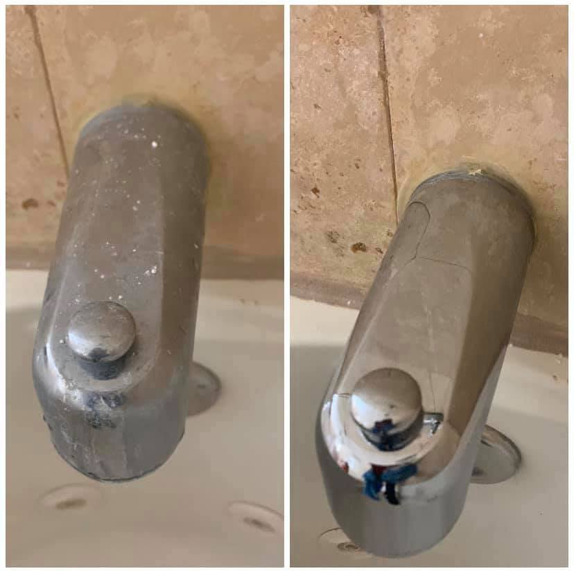 Before After Washbasin Tap Cleaning